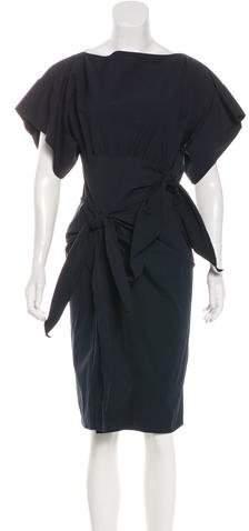 Bottega Veneta Woven Knee-Length Dress