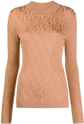 Fendi FF motif long-sleeved jumper