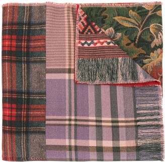 Pierre Louis Mascia Pancake panelled wool scarf