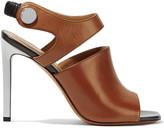 Carven Embellished leather slingback sandals