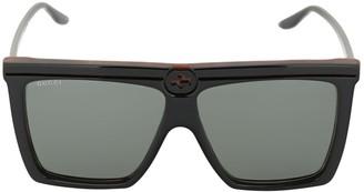 Gucci Gg0733s Logo Squared Acetate Sunglasses