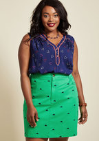 ModCloth Legendary Lifestyle Pencil Skirt in Green in M