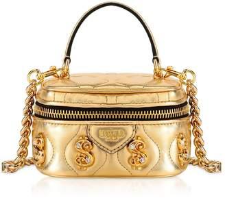 Moschino Golden Dollars Bauletto Bag W/ Tassel