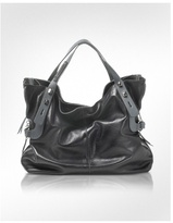 All in 1 - Two-tone Leather Satchel Bag
