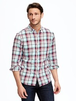 Old Navy Slim-Fit Brushed-Twill Plaid Shirt for Men