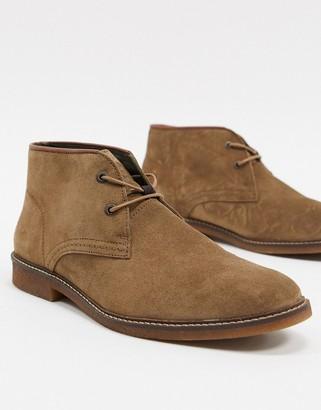 Barbour Kalahari suede mid desert boots in stone