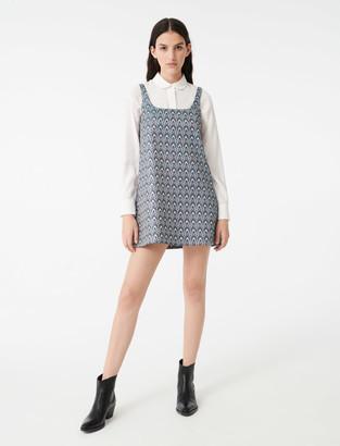Maje Strappy jacquard dress
