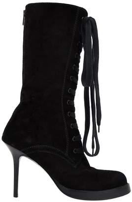 Haider Ackermann Black Suede Boots