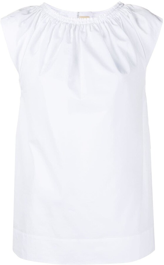 Marni pleated front short-sleeved T-shirt