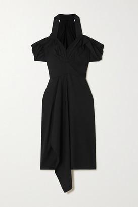 Maticevski Chrysalis Draped Twill Halterneck Dress - Black