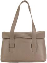 Hadaki Taupe Hannah's Leather Messenger Bag