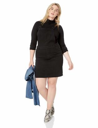 Dollhouse Women's Size Hematite Plus Denim Overall 16