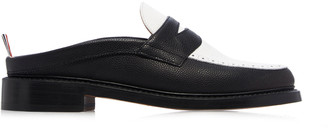 Thom Browne Two-Tone Leather Penny Loafers