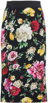 Dolce & Gabbana Silk floral pencil skirt