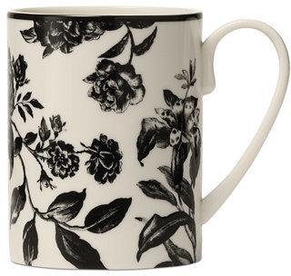 Martha Stewart Collection Orleans Black Mug