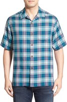 Tommy Bahama 'Lookout Point' Original Fit Plaid Silk Camp Shirt