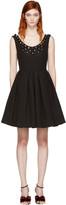 Fendi Black Studded Pleated Dress