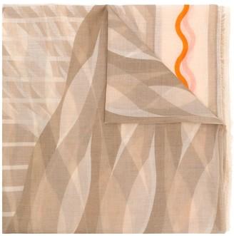 Faliero Sarti Yanqing mixed pattern scarf