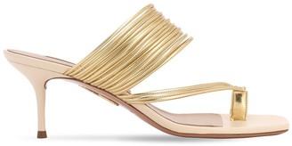 Aquazzura 60mm Sunny Metallic Faux Leather Sandals