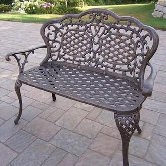 Astoria Grand Mcgrady Aluminum Garden Bench Color: Antique Bronze