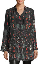 Tolani Whitney Long Floral-Print Tunic