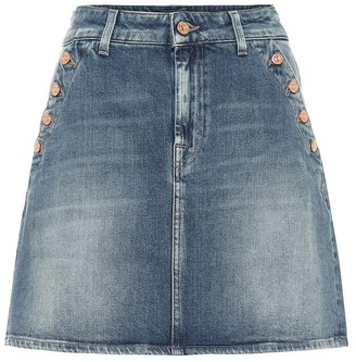 7 For All Mankind Keeper denim miniskirt