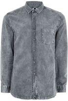 Topman Grey 'Moonwash' Twill Shirt