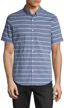 Original Penguin Striped Chambray Short-Sleeve Shirt