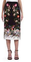 Erdem Maira Silk Crepe Midi Skirt