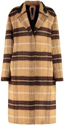 N°21 N.21 Tartan Wool-blend Coat