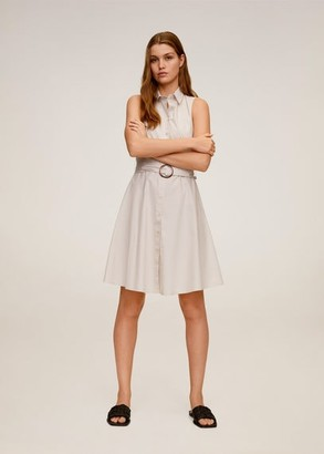 MANGO Belt shirt dress sand - 2 - Women