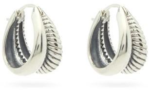 Sophie Buhai Double-hoop Sterling-silver Earrings - Silver