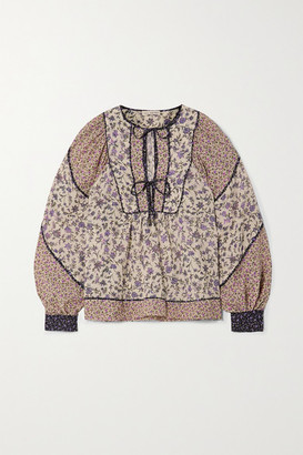 Ulla Johnson Colette Floral-print Cotton-blend Voile Blouse - Cream