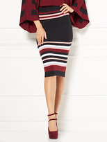 New York & Co. Eva Mendes Collection - Ilaria Striped Sweater Skirt