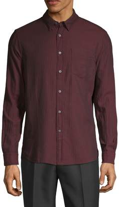 French Connection Spread Collar Long-Sleeve Shirt