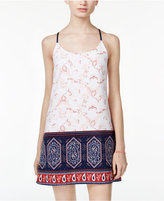 Trixxi Juniors' Printed Embroidered Shift Dress