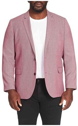 Johnny Bigg Big Tall Chace Textured Blazer (Pink) Men's Clothing