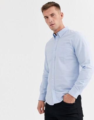 Ben Sherman Slim Fit Oxford Shirt-Blue