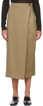 Low Classic Beige Classic Pleats Wrap Skirt