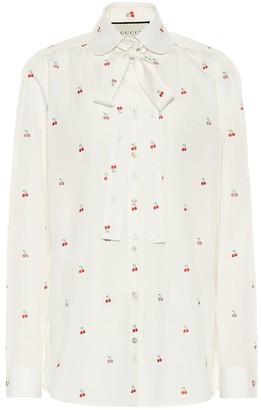 Gucci Fil coupe cotton blouse