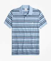 Brooks Brothers Slim Fit Supima® Cotton Pique Varied Stripe Polo Shirt