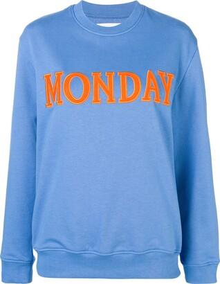 Alberta Ferretti Monday patch sweatshirt