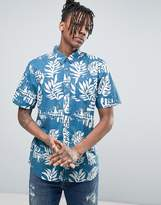 Vans Jt Solana Hawaiian Shirt In Blue Va315w3mc