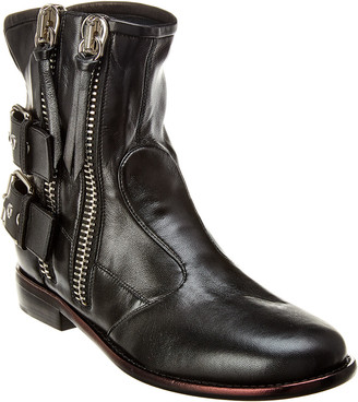 Giuseppe Zanotti Buckled Leather Biker Boot