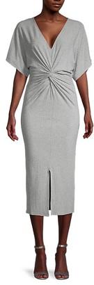 Miss Me Front-Twist Jacquard Maxi Dress