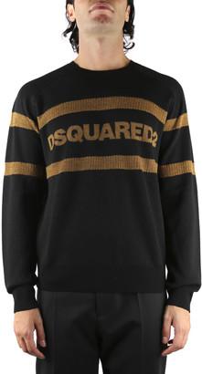 DSQUARED2 Black Logo Wool Knitwear