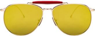 Thom Browne Mirror Lens Aviator Sunglasses