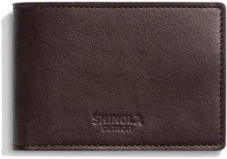 Shinola Men's Super Slim Two-Tone Leather Bifold Wallet
