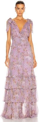 Alexis Clemence Dress in Purple Bouquet   FWRD