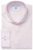 Woven Spread Collar Button Dress Shirt